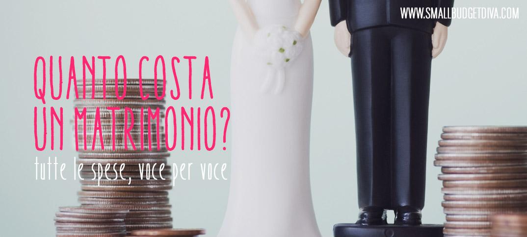 Quanto costa un matrimonio ecco tutte le spese for Quanto costa rivestire un divano