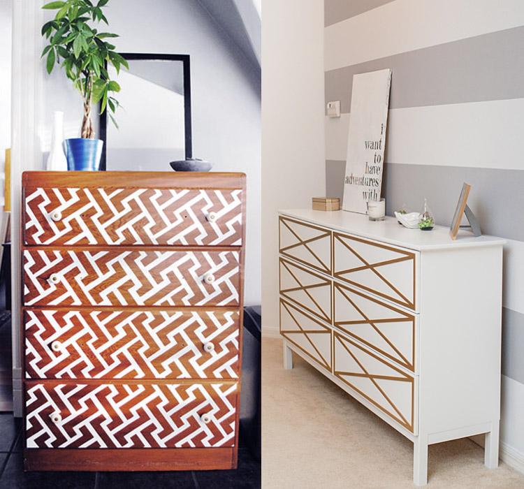 Idee decorazioni washi tape mobili - Decorazioni per mobili ...