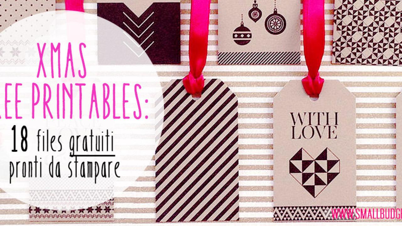 Etichette Natalizie Da Stampare free printable natalizi | 18 file gratuiti, pronti da stampare!