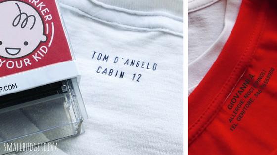 etichette personalizzate per asilo - timbro per vestiti