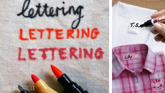 etichette personalizzate per asilo pennarelli per la stoffa