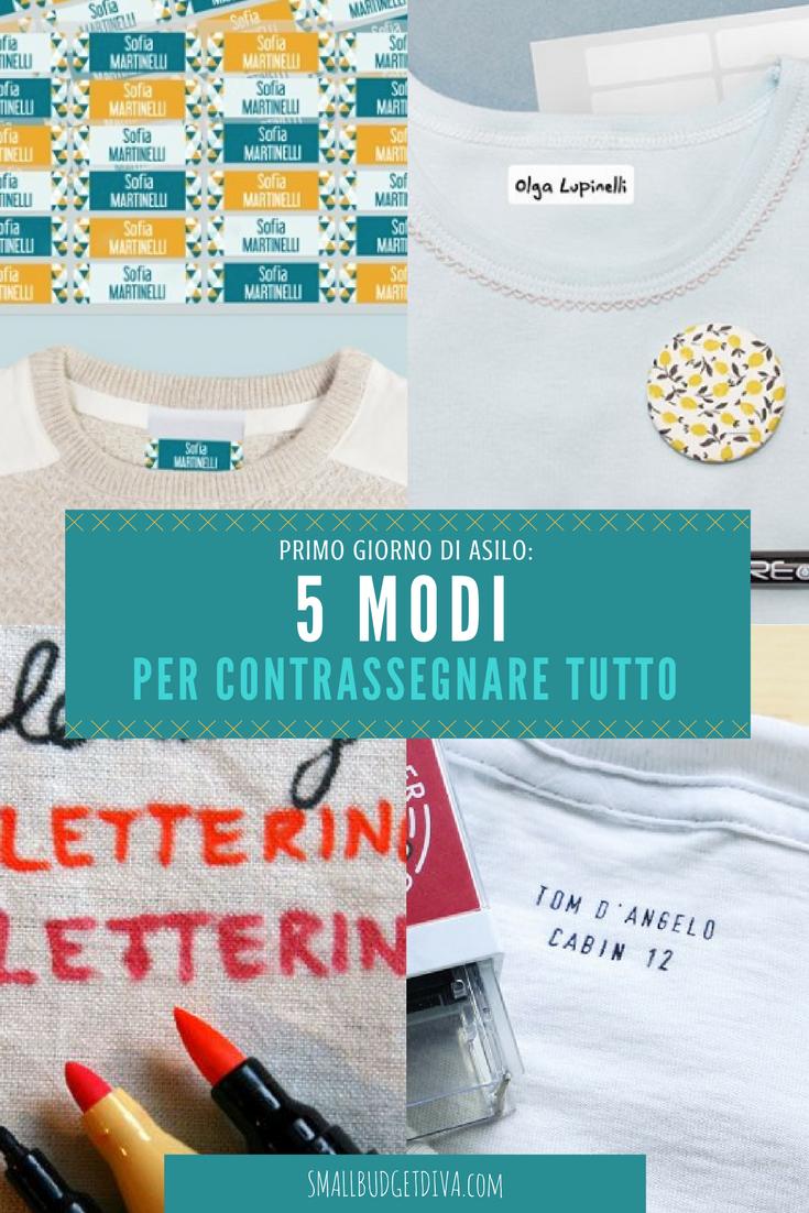 etichette personalizzate per asilo come fare Pinterest