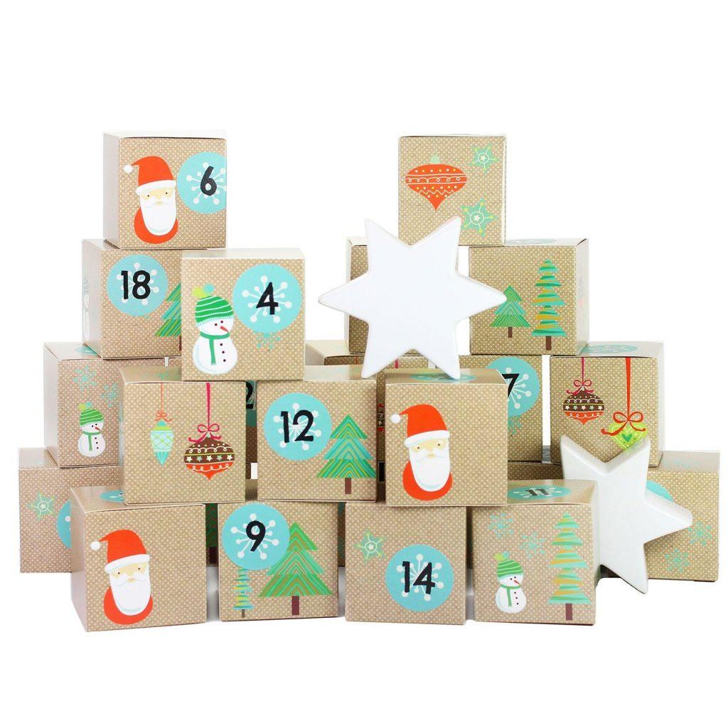 calendario dell'avvento scatoline numerate prestampate