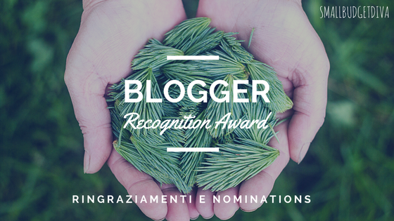 Blogger RECOGNITION AWARD 2017 _ titolo