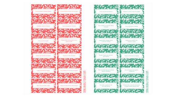 Calendario dell'avvento fai da te da scaricare e stampare