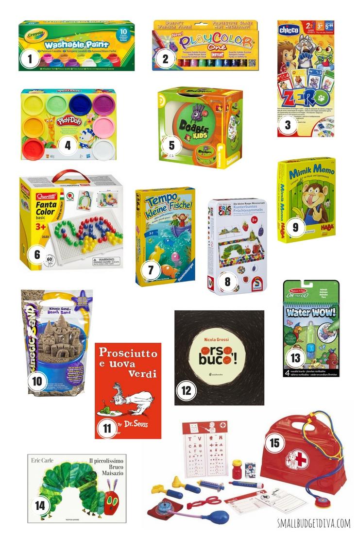 Le feste per bambini _ 15 idee regalo sotto i 15 euro_pin