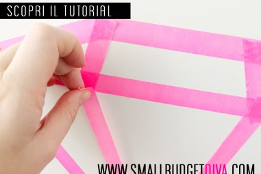 Decorazioni geometriche col washi tape | tutorial